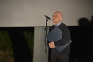 Petar Krelja prilikom primanja nagrade Zlatni Oktavijan za životno djelo (fotografija: Davor Zupičić)